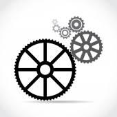 Black cogs (gears) — ストックベクタ