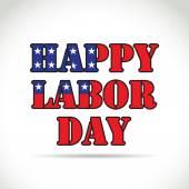 Happy labor day theme — Stock Vector