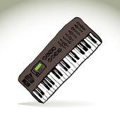 Piano roll — Vetor de Stock