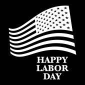 Happy labor day us flag — Stock Vector