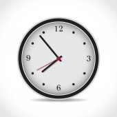 Modern analog clock — Vettoriale Stock