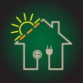 Eco house icon — Stock Vector