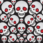 White Skulls — Stock Vector