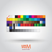 Colored Palette Guide — Stock Vector