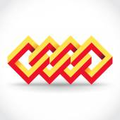 Rectangles logo template — 图库矢量图片