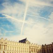 Chateau de Versailles and sky — Stock Photo