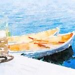 Sailing boats on the lake — Stock Photo #74772505