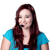 Young female telemarketer. — Stock Photo