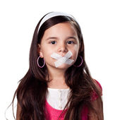Silenced little girl — Foto de Stock