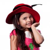 Girl playing dress up — Stock Photo