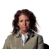 一个悲哀的表情的女人 — 图库照片