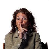 Woman Shh be quiet! — Stock Photo