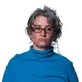 女人看起来伤心 — 图库照片