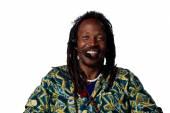 Rastafarian telephone operator — Stock Photo