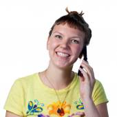 Chatting on the phone — Stock Photo