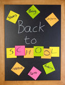 Back to school list — Stock Photo