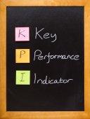 KPI Key Performance Indicator blackboard — Stock Photo
