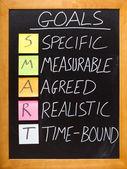 SMART Goals principle — Stock Photo