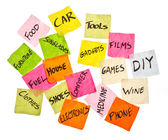 Life choices - making spending decisions — Foto Stock