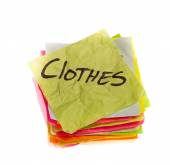 Making spending decisions - clothes — Stock Photo