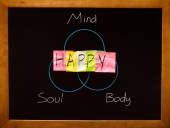 Mind body and soul — Stock Photo
