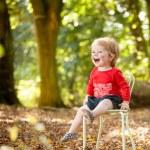 Amazed child in woods — Stock Photo #66286807