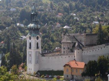 Old Castle in Banska Stiavnica — Stock Video