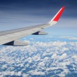 View of airplane wing — Stock Photo #56485713