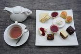 Traditional afternoon tea set — Foto de Stock