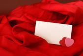 Blank Romantic Notecard — Stock Photo