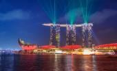 Singapore Laser Show — Stock Photo