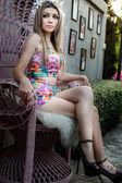 Relaxing In The Garden — Stockfoto
