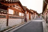 Korean traditional village — Stock Photo