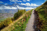 Footpath in mountains — Stock Photo
