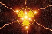 Radiation sign — Stockfoto