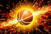 Glowing basketball — Stock Photo