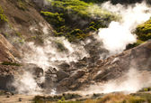Geysers on a volcano — Stock Photo