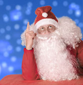 Santa Claus is surprised — Stock Photo