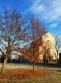 Autumn church — Stock Photo