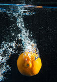 Orange splash — Stock Photo