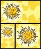 Sun Backgrounds — Stock Vector