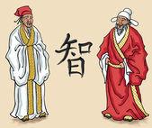 Chinese Elders — Stock Vector