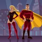 Постер, плакат: Superhero Couple 2