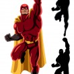 Superhero Flying 2 — Stock Vector #56259993