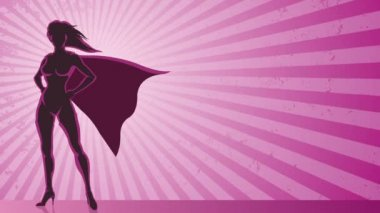 Super Heroine Background — Stock Video