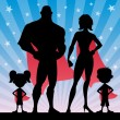 Superhero Family — Stockvector  #59797291