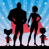 Superhero Family — Stock Vector