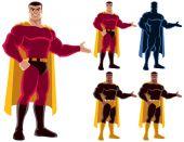Superhero Presenting — Stockvektor
