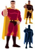 Superhero Approving — Stock Vector