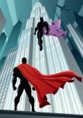 Hero Versus Villain — Stock Vector